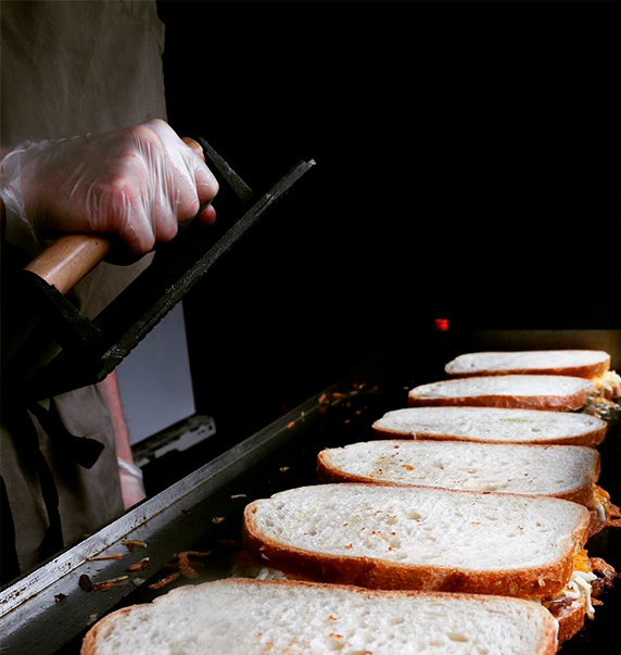 grilled cheese sandwiches before grilling